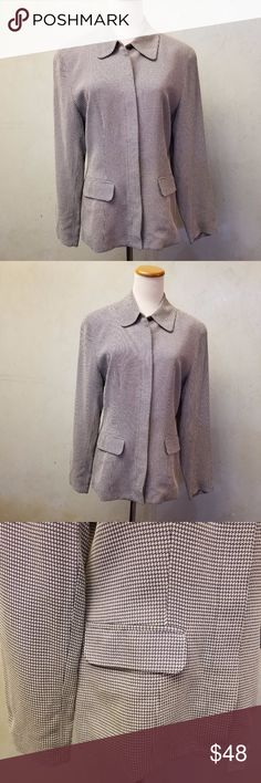Talbots gray and purple blazer in perfect condition like new Talbots gray and purple blazer Talbots Jackets & Coats Blazers
