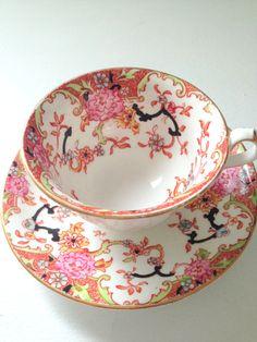 Vintage Englishware Davenport Tea Cup and Saucer circa 1960s