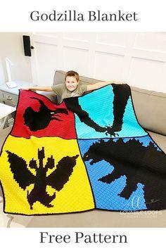 C2c Crochet Blanket, Crochet Afghans, Crochet Blanket Patterns, Free Crochet, Knit Crochet, Crochet Monsters, Dishcloth Knitting Patterns, I Cord, Free Fun