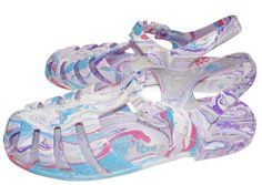 Anntian Marmored Shoes   Jelly-style marbelized sandals from Berlin