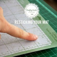 DIY| Make Your Cricut Cutting Mat Sticky Again: fingernail poliah remover (takes the sticky off) use with a baby wipe, rinse mat off, then let dry, tape the edges, spray adhesive on mat. Let dry. And yay sticky again! (Can pit multiple coats of adhesive to get sticky enough) treat with ur hands!! And youre back to automated cutting!!
