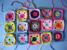 Little Coat Squares | Granny Square Crochet Tutorial from Lucy at Attic24 #freecrochetpattern