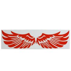 Unique Bargains Red Angel Wing Truck Auto Car Window Laptop Wall Decal Sticker Badge