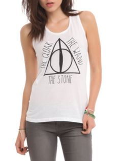 Harry Potter Deathly Hallows Girls Tank Top from hottopic.com #HarryPotter #DeathlyHallows #HotTopic