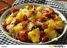 Czech Recipes, Ethnic Recipes, Pork Tenderloin Recipes, Fruit Salad, Potato Salad, Ham, Food Porn, Food And Drink, Potatoes