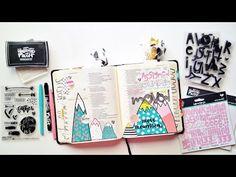 Move Mountains // a process video by Andrea Scripture Doodle, Scripture Study, Bible Art, Bible Quotes, Bible Study Journal, Art Journaling, Bible Highlighting, Lds Scriptures, Faith Bible