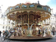 carousel in paris france | two-story carousel in Paris, France. I