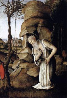 The Penitent St Jerome by LIPPI, Filippino #art