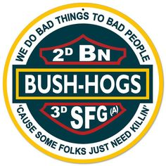 2nd Battalion Bush Hogs 3rd SFG