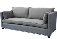 """Studio 90"""" Sofa, Charcoal on OneKingsLane.com"""