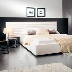 Comprar online cama alma. Cabezal con aro opcional tapizado de varias medidas de largo y alto. Diseño: David Casadesús.