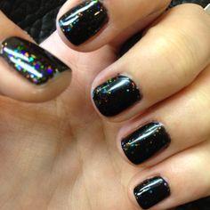 Shellac nails -assume its black pool & zillionaire?