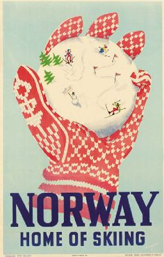 Norway - Home of skiing - 1946 - (Luger) -