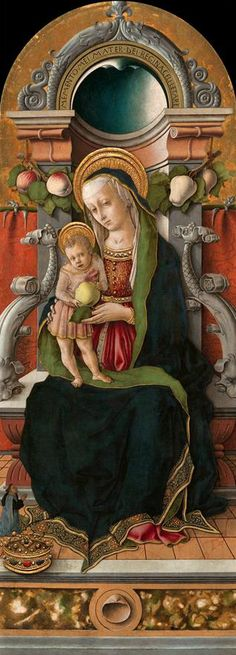 CARLO CRIVELLI (1435 – 1495) - Madonna and Child. Washington, National Gallery of Art.