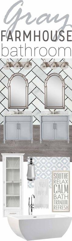 Gray Farmhouse Inspired Bathroom Decor Shopping Guide