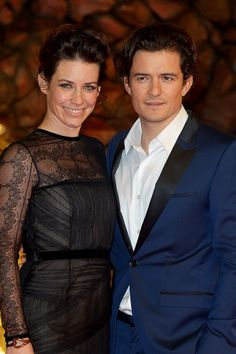 """Evangeline Lilly and Orlando Bloom stunned on the red carpet at the German premiere of """"The Hobbit: The Desolation Of Smaug."""""""