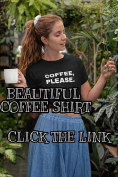 We created a new black shirt for you and your coffee passion. Elegant and comfortable, this black coffee shirt will be the best choice in EVERY occassions. Click the link for details and sizes! Coffee Lover Gifts, Coffee Lovers, Custom Tee Shirts, Cool Shirts, Coffee Time Quotes, Coffee World, Coffee Shirt, Coffee Accessories, Time Photography