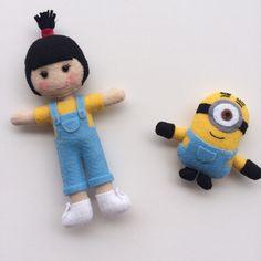 Agnes e Minion em feltro