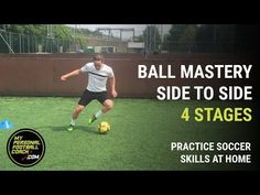 Yes you can practice soccer skills at home. Improve your footwork, speed, agility and quickness with the ball with this 4 stage soccer practice. Try it now Get the best tips on how to increase your vertical jump here: Basketball Tricks, Basketball Practice, Basketball Workouts, Basketball Skills, Soccer Drills, Soccer Coaching, Soccer Tips, Soccer Training, Custom Basketball