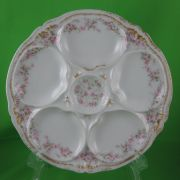 Theodore Haviland Limoges Rose Oyster Plate