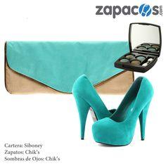 #moda #zapatos #zapato #cartera #tendencia #fashion #Glam #glamour #color #siboney #chiks #maquillaje #azul #blue #makeup #heel
