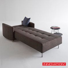 Features Icomfort Excess 10-inch mattress, Innovation Living Crescent Deluxe Excess Lounger. #InnovationLiving #Lounger #sofa #sofabed #PerWeiss Available at loftmodern.com  http://www.loftmodern.com/products/innovation-living-crescent-deluxe-excess-lounger