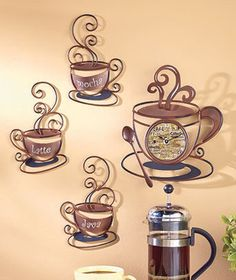 When its breakfast time its Coffee time!  Decorate your home with the Decorative Metal Coffee Collection