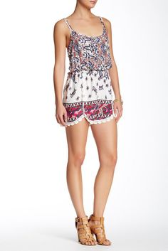 Sequin Hearts Boho Romper (Juniors)