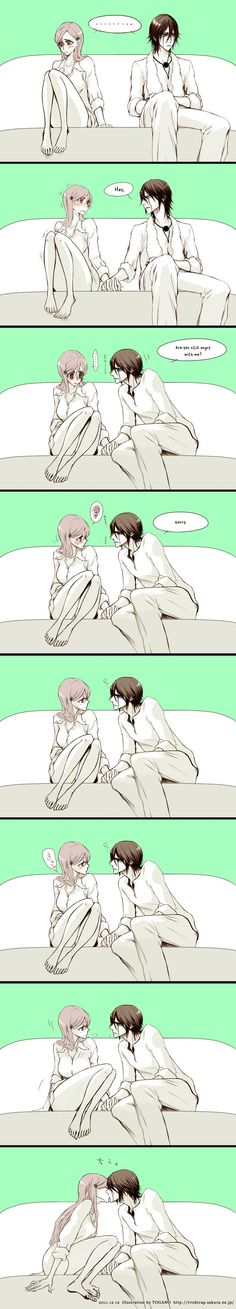 Funny Anime Couples 64 Ideas For 2019 Good Morning For Her, Funny Anime Couples, Ulquiorra And Orihime, Funny Books For Kids, Bleach Couples, Kids Notes, Funny Photos Of People, Love Quotes For Girlfriend, Bleach Characters