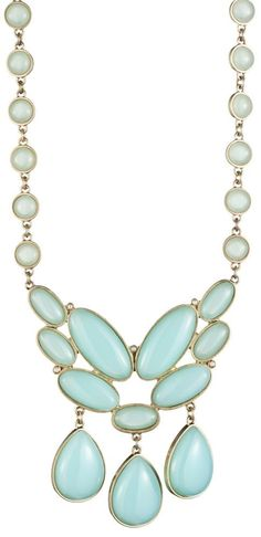 Chalcedony glass stone necklace by designer Danielle Stevens.