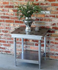Hometalk :: Playful Polka Dots on Metallic Silver Paint-Furniture Revival