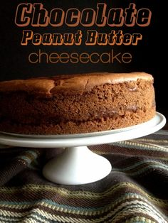 Chocolate Peanut Butter Cheesecake from @Shari Brown|Tickled Red