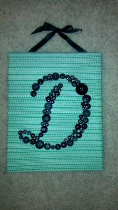 diy button canvas letter...wanna do for the baby room