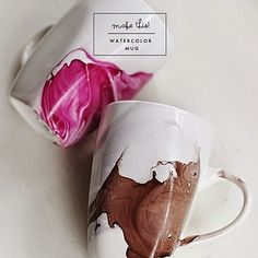 Watercolor Mug   18 Easy DIY Art Projects You Can Make With Watercolors