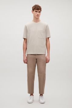 COS | Pique round-neck t-shirt