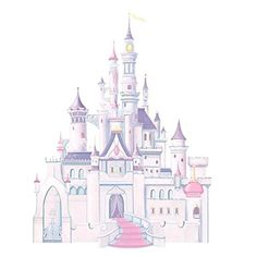 Roommates Rmk1546Gm Disney Princess Glitter Castle Peel & Stick Giant Wall Decal - Decorative Wall Appliques - Amazon.com