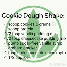 Cookie Dough Herbalife Shake Recipe www. Nutrition Herbalife, Herbalife Recipes, Nutrition Shakes, Healthy Shakes, Nutrition Club, Healthy Drinks, Get Healthy, Healthy Eating, Healthy Recipes