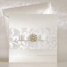 Brocade Wedding Invitations UK - Amelia - Polina Perri