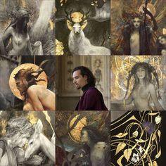 ArtVsArtist by Yoann-Lossel on DeviantArt White Night Game, Fantasy Authors, Foil Art, Human Art, Green Man, Custom Art, Painting Inspiration, Les Oeuvres, Illustration Art