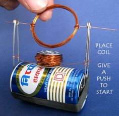Science from Trash -  BUILD A SIMPLE NO-MAGNET MOTOR