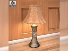 3D Model Ashley Mariana Table Lamp c4d, obj, 3ds, fbx