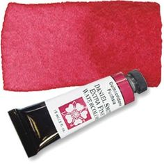 A necessary watercolor for painters who embrace color - a brilliant, slightly violet, red. Never bashful, Quinacridone Fuchsia remains strong even when mixed with water. Your light washes will be bold