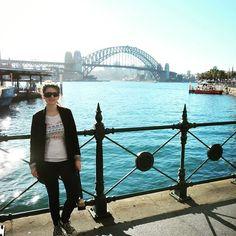 Posing in from of the #sydneyharbourbridge #sydney #bridge #travelingram #instatravel #explore #australia by ciarastravels http://ift.tt/1NRMbNv