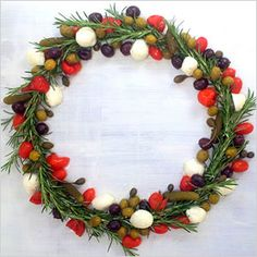 Rosemary and olive wreath. I do this as a Christmas appetizer.