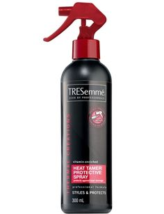 My hair secrets: Tresemme Heat Protectant $3.99   I swear by this - its inexpensive, lasts long, works great, and makes hair super smooth.