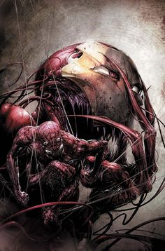 Carnage #4 Cover Art by Comic Artist Clayton Crain #Illustration #Comics #Drawing