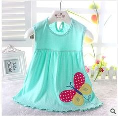 Free Shipping new Baby Dresses Girls Infant Cotton Clothing Sleeveless Dress Summer Clothes Printed +Embroidery 0-2 year