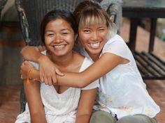 Komang and Kezia having a nice moment at school. #vpbali #vpbalifamily #team #love #behindthescenes