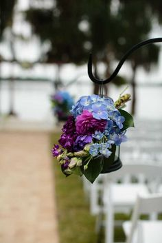 Cobalt Blue & Purple Florida Wedding