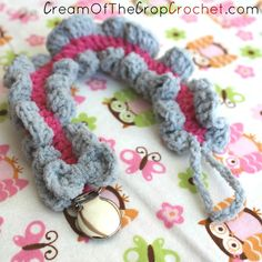 My First Pacifier Clip - Free Crochet Pattern by Guest Contributor Cream of the Crop Crochet for The Stitchin' Mommy | www.thestitchinmommy.com
